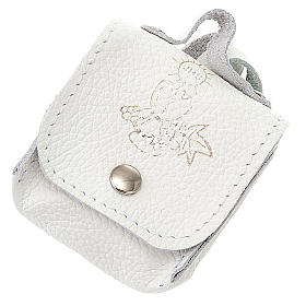 First Communion hand-bag leather rosary case s1