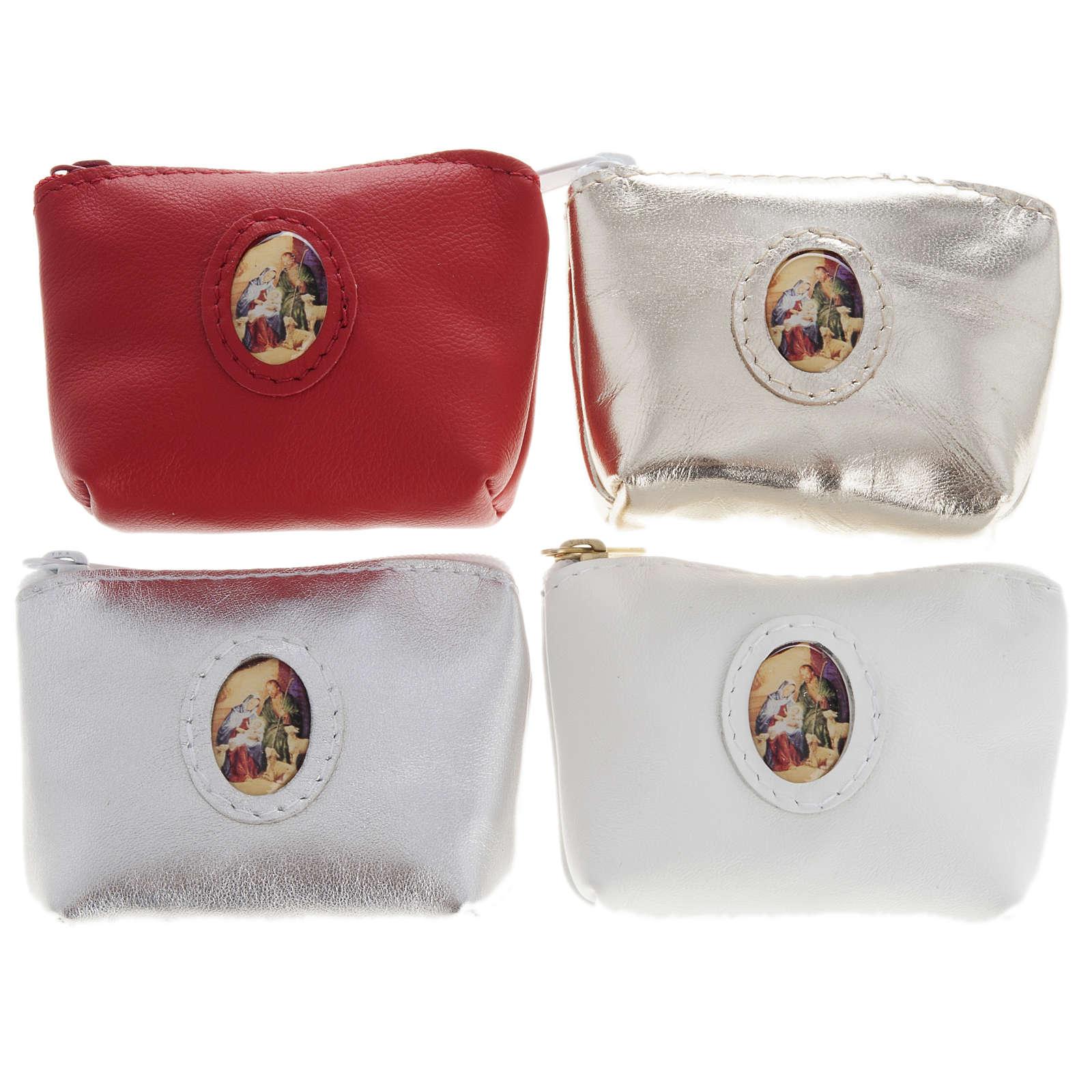 Porta rosario  bolsa piel varios colores 4