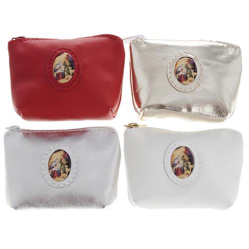 Porta rosario  bolsa piel varios colores 1