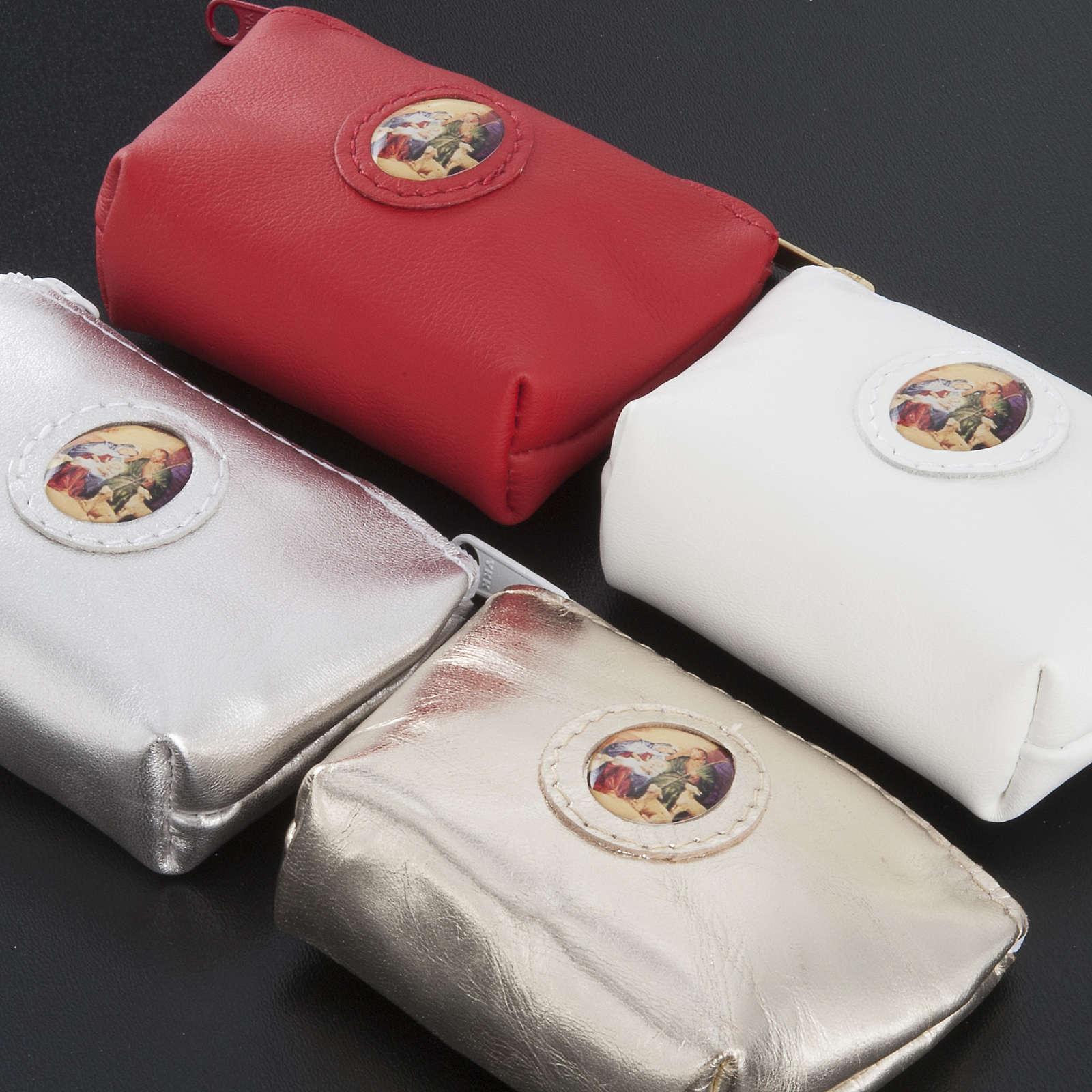 Porte chapelet cuir en forme de petit sac 4