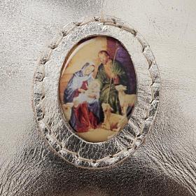 Porte chapelet cuir en forme de petit sac s3