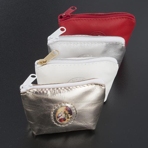 Porte chapelet cuir en forme de petit sac 2