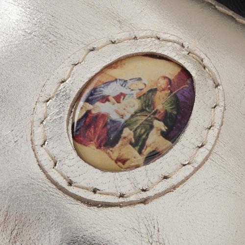 Porte chapelet cuir en forme de petit sac 5