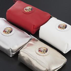 Estojo de terço saco couro cores diferentes s4