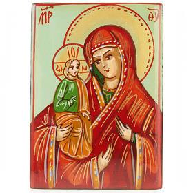 Portarosario icona dipinta Madonna con bimbo s2