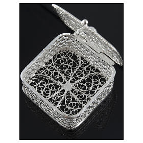 Rosary case, squared in 800 silver s3