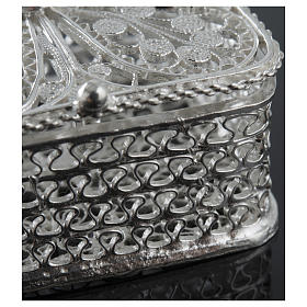 Rosary case, squared in 800 silver s4