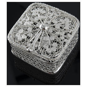 Rosary case, squared in 800 silver s5