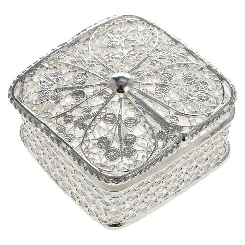 Rosary case, squared in 800 silver 1