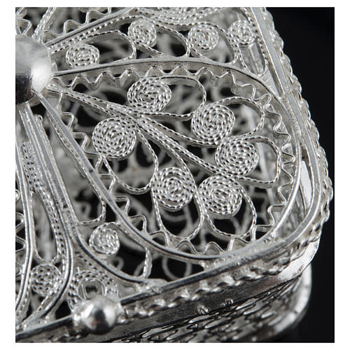 Rosary case, squared in 800 silver 2