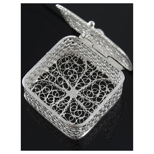 Rosary case, squared in 800 silver 3