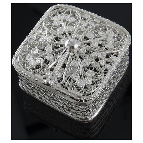 Rosary case, squared in 800 silver 5