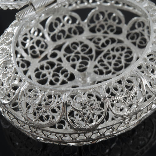 Rosary case, oval in 800 silver 4