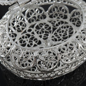 Rosary case, oval in 800 silver s4