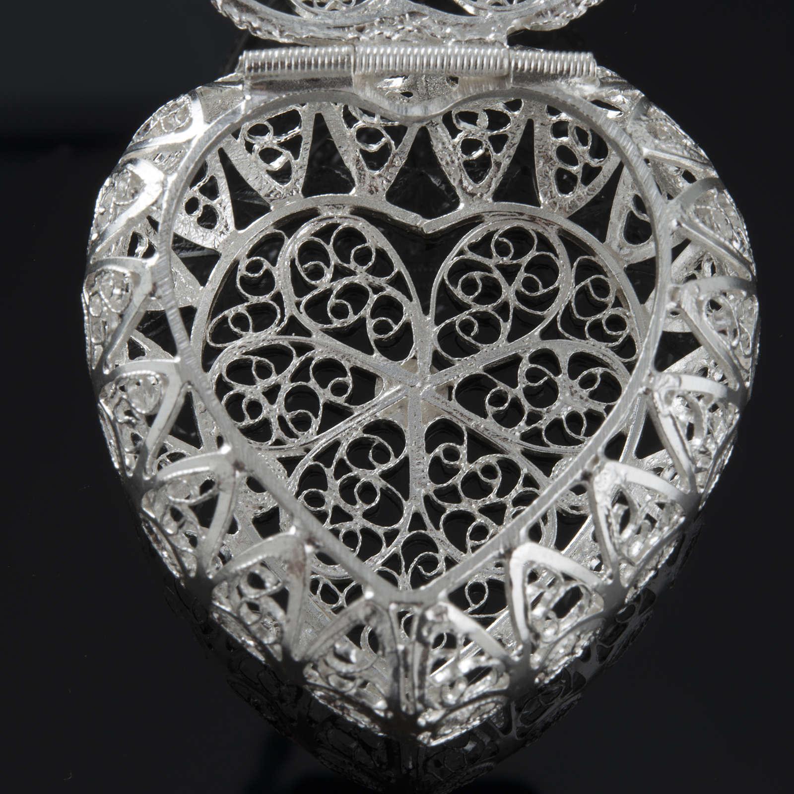 Rosenkranz Kästchen Silber 800, Filigran, Herz 4