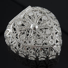 Rosenkranz Kästchen Silber 800, Filigran, Herz s2