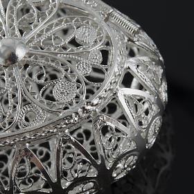 Rosenkranz Kästchen Silber 800, Filigran, Herz s4
