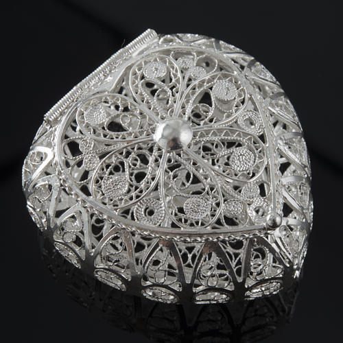Rosenkranz Kästchen Silber 800, Filigran, Herz 2