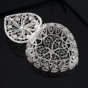 Rosary case, heart-shaped in 800 silver s3