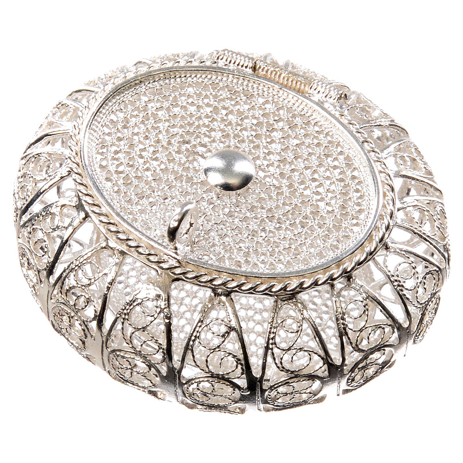 Portarosario scatolina filigrana argento 800 4