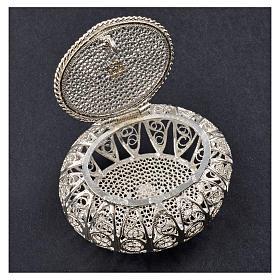 Portarosario scatolina filigrana argento 800 s5