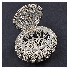Portarosario scatolina filigrana argento 800 s2