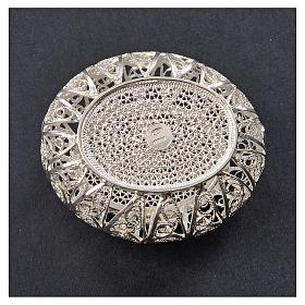 Portarosario scatolina filigrana argento 800 s3