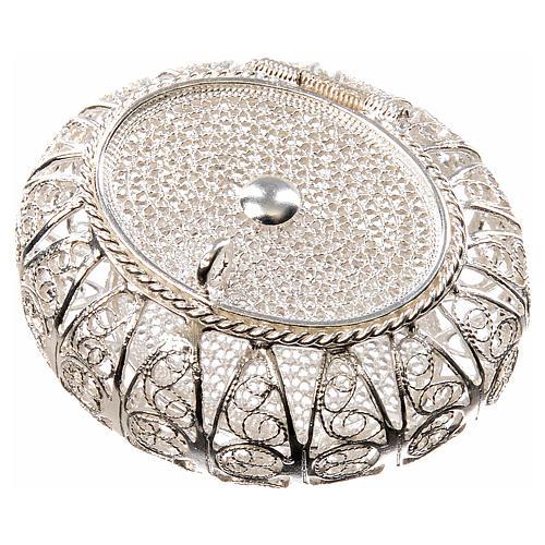 Portarosario scatolina filigrana argento 800 1