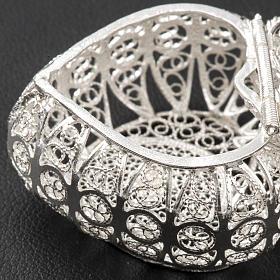 Portarosario cuore argento 800 filigrana s4