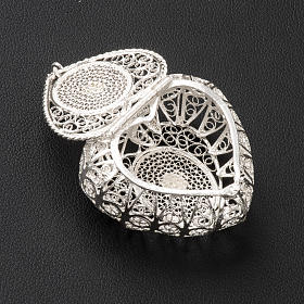 Rosary case, heart in 800 silver filigree s3