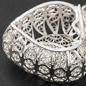 Rosary case, heart in 800 silver filigree s4