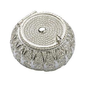 Étuis à chapelets: Boite à chapelet en filigrane d'argent ronde