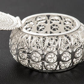 Portarosario tondo argento 800 filigrana s4