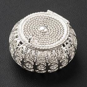 Szkatułka na różaniec okrągła srebro 800 filigran s2