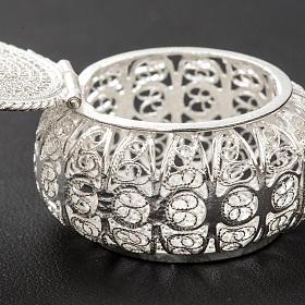 Szkatułka na różaniec okrągła srebro 800 filigran s4