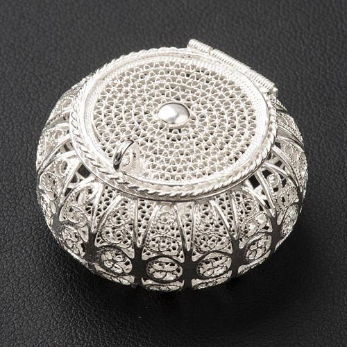 Szkatułka na różaniec okrągła srebro 800 filigran 2