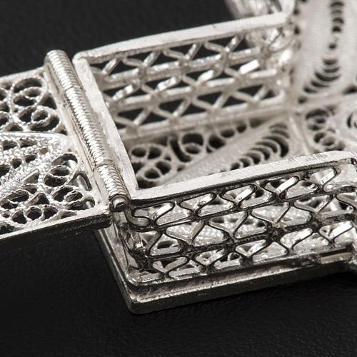 Portarosario croce argento 800 filigrana 5