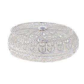 Caixa oval para terço filigrana prata 800 2x5,5x4,5 cm s1
