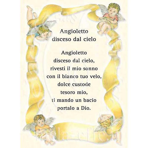 Prayer card, Prayer to the Little Angel 1