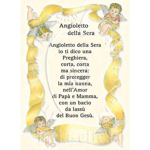 Prayer card, Prayer to the evening Angel 1