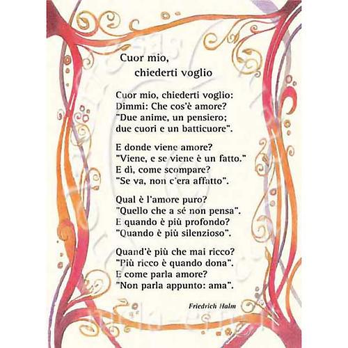 Kartka z życzeniami 'Cuor mio, chiederti voglio' 1
