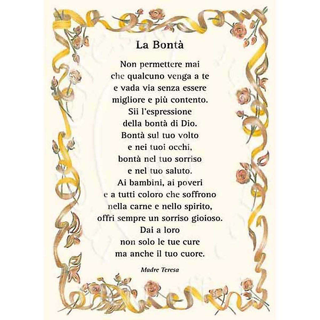 Greetings card, Kindness, quote from Mother Teresa ITA 4