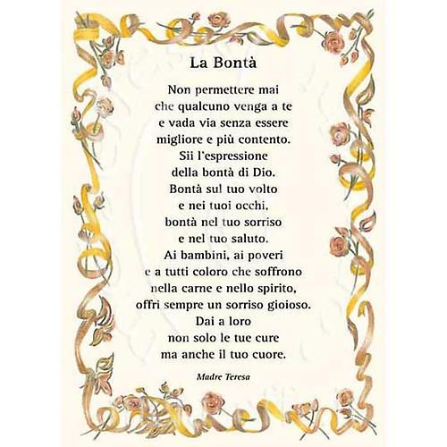 Biglietto Per Auguri Preghiera La Bonta Madre Teresa Vendita
