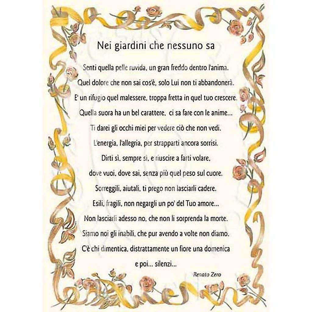 Kartka z życzeniami piosenka 'Nei giardini che nessuno sa' R. Zero 4