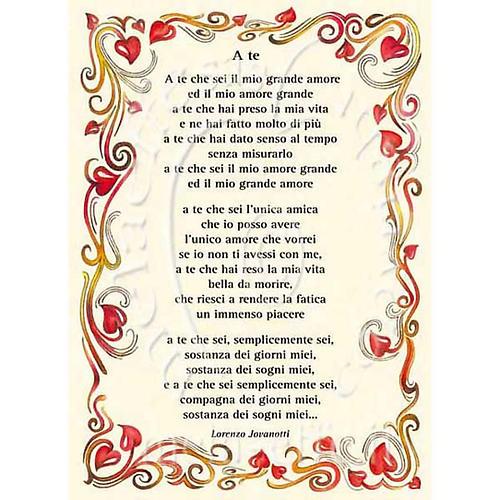 Kartka z życzeniami piosenka 'A Te' Jovanotti 1