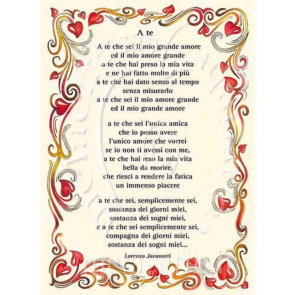 Greetings Card A Te Italian Song Online Sales On Holyart