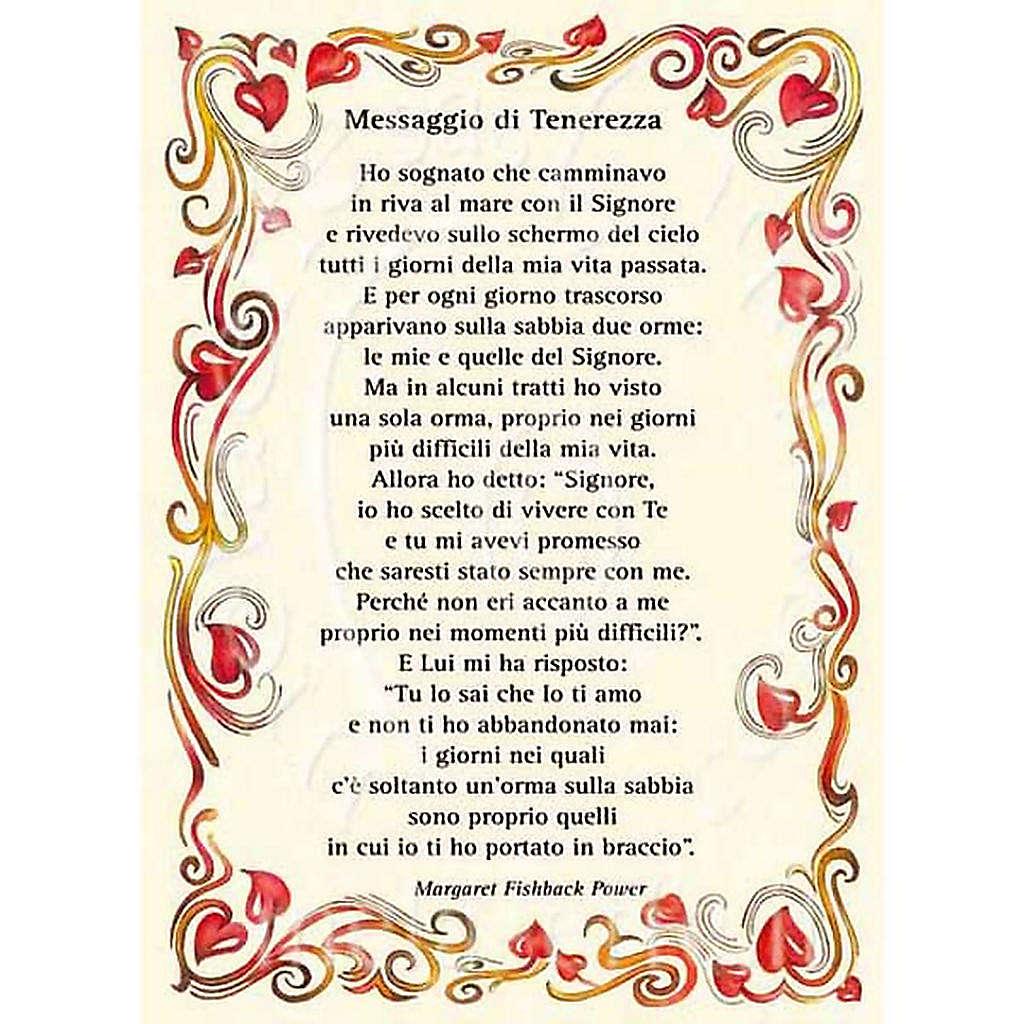 Kartka z życzeniami z poezją 'Messaggio di Tenerezza 4