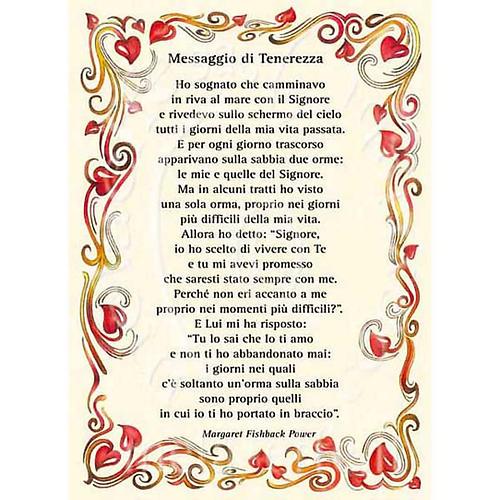 Kartka z życzeniami z poezją 'Messaggio di Tenerezza 1