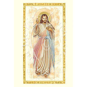 Divine Mercy card with parchment s1
