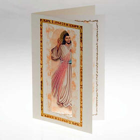 Divine Mercy card with parchment s2